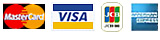 使用可能クレジットカード AMEX / Master / JCB / VISA